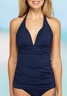 Tommy Bahama Pearl Solids Pleated Halterkini