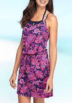 Tommy Bahama® Jacobean Over The Shoulder Spa Dress Swim Cover Up