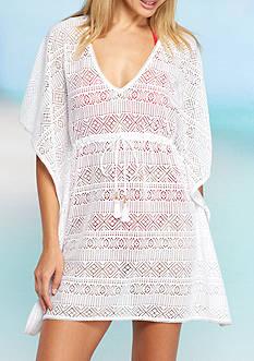 Tommy Bahama Crochet Short Tunic Swim Cover Up