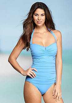 Tommy Bahama Pearl V Front Halter One Piece Swimsuit