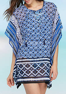 Tommy Bahama Shibori Lace Up Tunic Swim Cover Up