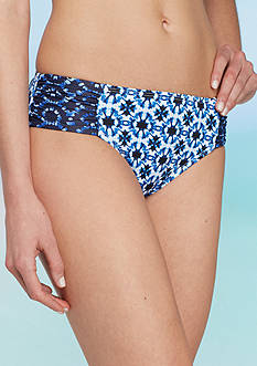 Tommy Bahama Shibori Hi-Waist Swim Bottoms