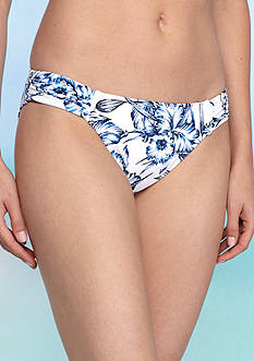 Tommy Bahama Sketchbook Blossom Side Shirred Hipster Swim Bottom