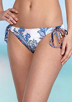 Tommy Bahama Paisley Leaves Loop String Bikini Swim Bottoms