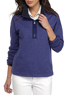 Tommy Bahama Flip Side Cowl Neck Half Zip