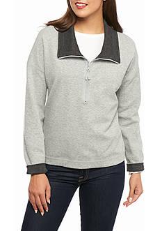 Tommy Bahama Flip Side Cowl Neck Half Zip Sweater