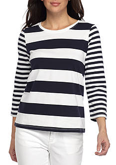 Tommy Bahama® Thera Stripe 3/4 Sleeve Tee