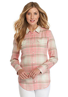 Tommy Bahama Plaid Camp Shirt