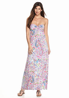 Tommy Bahama Paisley Dance Strapless Dress
