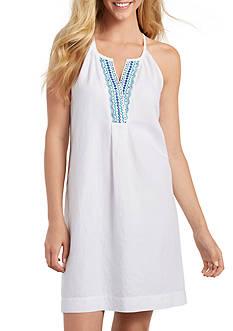 Tommy Bahama Embellished Linen Short Dress