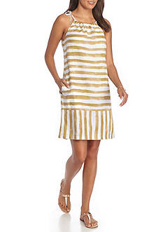 Tommy Bahama Stripe Short Woven Dress