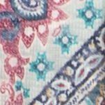 Plus Size Tees: Blue Eyeshadow Plus Size Crochet Trim Cozy