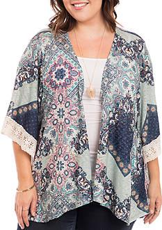 Eyeshadow Plus Size Crochet Trim Cozy