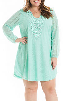 Eyeshadow Plus Size Crochet Dress