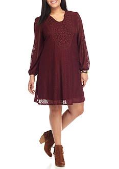 Eyeshadow Plus Size Crochet Dress