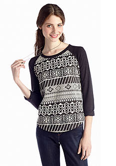 Eyeshadow Tribal Front Raglan Sweatshirt