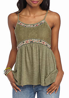 Eyeshadow Embroidered Tank
