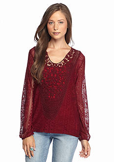 Eyeshadow Solid Lace Blouse