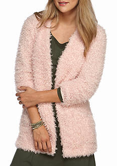 Eyeshadow Fuzzy Cardigan