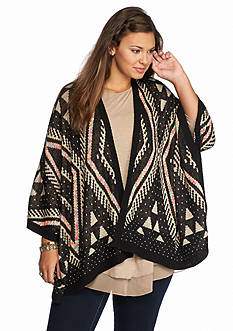 Eyeshadow Plus Size Diamond Neon Cardigan