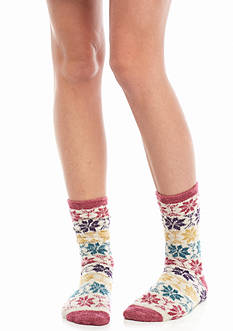Free People Orian Snowflake Slipper Socks
