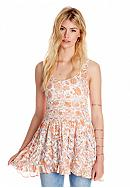 Free People Printed Trapeze Slip