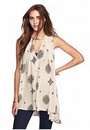 Free People Sleeveless Keyhole Tank