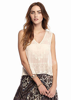 Free People Run With It Embellished Top