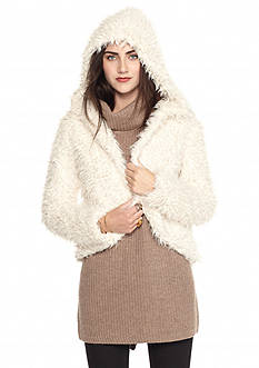 Free People Hooded Fluffy Coat