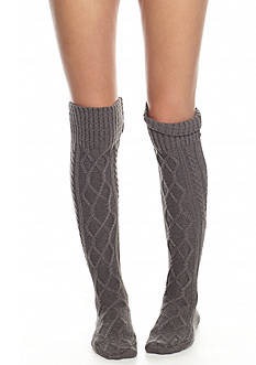 Free People Cozy Cable Over The Knee Socks