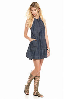 Free People Blue Jean Baby Dress
