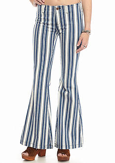 Free People Jolene Stripe Flared Jeans