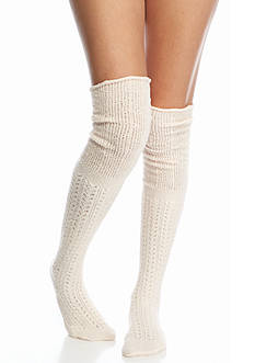 Free People Bowery Crochet Over the Knee Socks