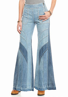 Free People Tidal Wave Novelty Flare Jeans