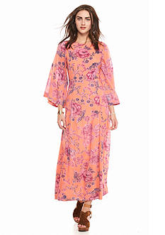 Free People Melrose Place Printed Maxi Dress