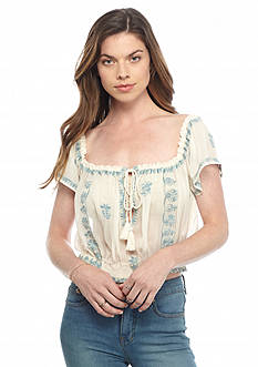 Free People Paisley Park Peasant Top