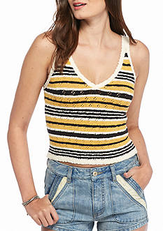 Free People Ditsy Stripe Tank Top