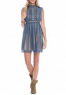 Free People Forever Lace Baby Doll Dress