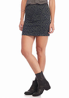 Free People Modern Femme Printed Mini Skirt