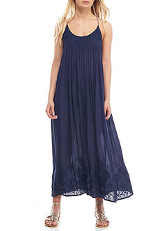 Free People Embroidered Elaine Maxi Dress