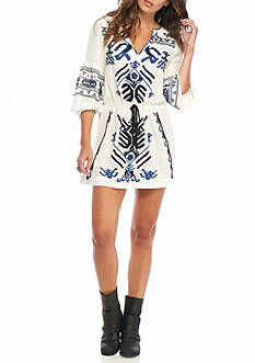 Free People Embellished Mini Dress