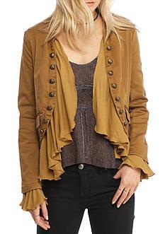 Free People Romantic Ruffles Cotton Twill Jacket