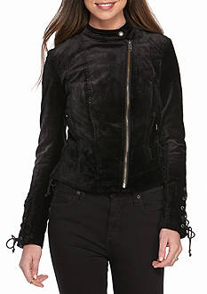 Free People Lacey Velvet Jacket