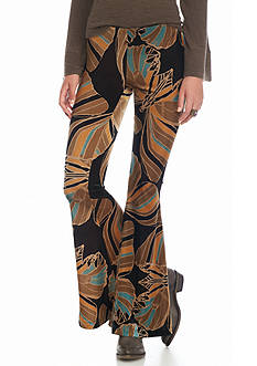 Free People Float Away Velvet Print Flare Pants