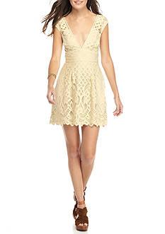 Free People One Million Lovers Lace Mini Dress