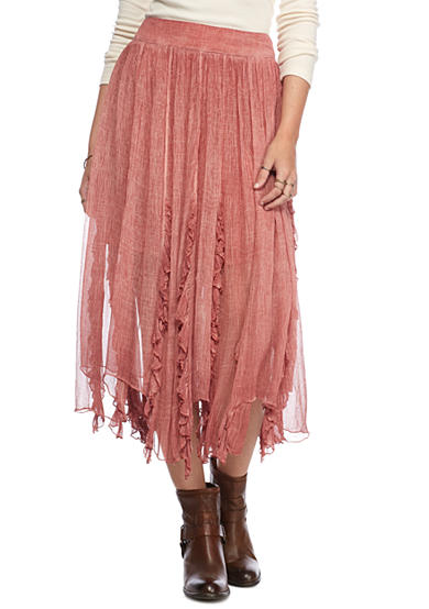 Free People Follow Me Crinkle Maxi Skirt