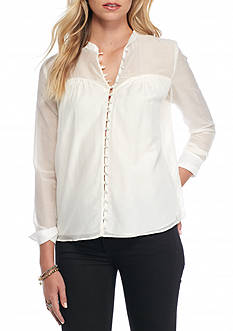 Free People Through And Through Button Down Blouse