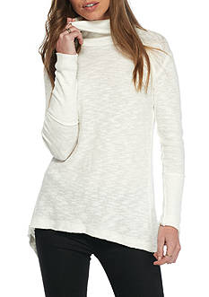 Free People Split Back Cowl Neck Top