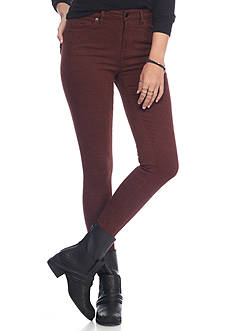 Free People Isabel Jacquard Peyton High Rise Skinny Pants