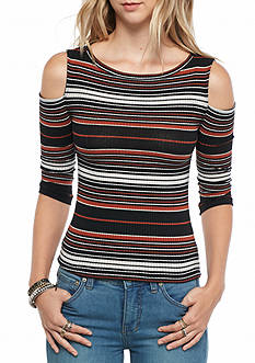 Free People Rory Stripe Cold Shoulder Tee